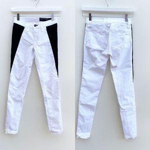 Rag & Bone Black and White Colorblock Skinny Jeans